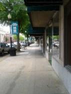 Vacant sidewalk