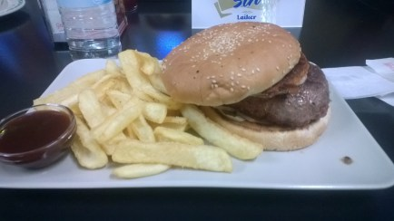 Buey (ox) burger, I can't believe I ate the whole thing.
