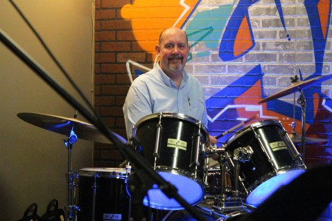 Bill, drums up a fine beat!