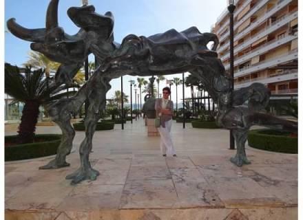Dali sculptures at Marbells boardwalk