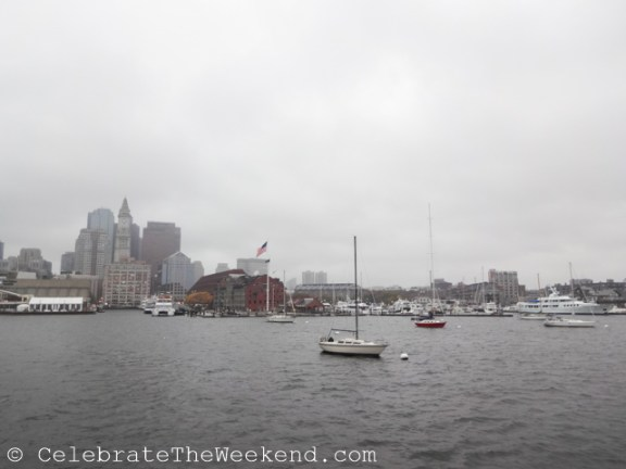 View from the Constitution Tour of Boston Harbor during the weekend tour of Boston