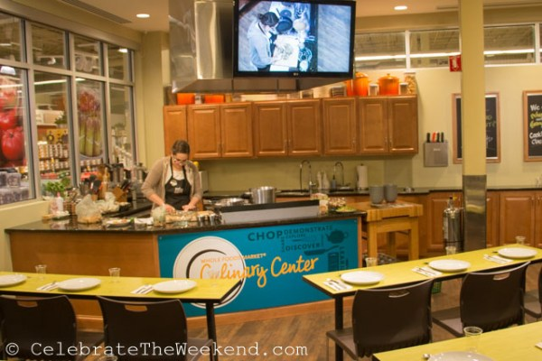 Demo Specialist Alex Tillotson is getting ready for the Mushrooms-themed class.
