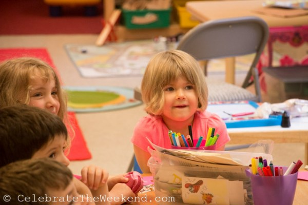 Celebrating with friends at Little Sprouts Academy preschool