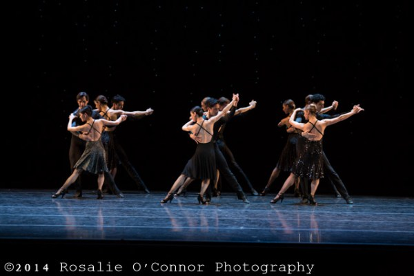 "Boston Ballet performing Hans van Manen's ""BlackCake"" ©RosalieO'Connor"