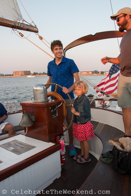 Family Sail in Newport Harbor, Rhode Island