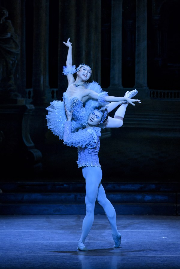 Ji Young Chae and Junxiong Zhao in Marius Petipa's The Sleeping Beauty; photo by Liza Voll, courtesy Boston Ballet