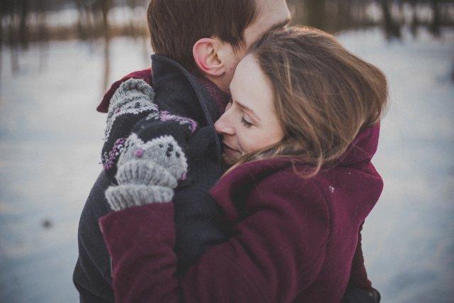 hugging 1