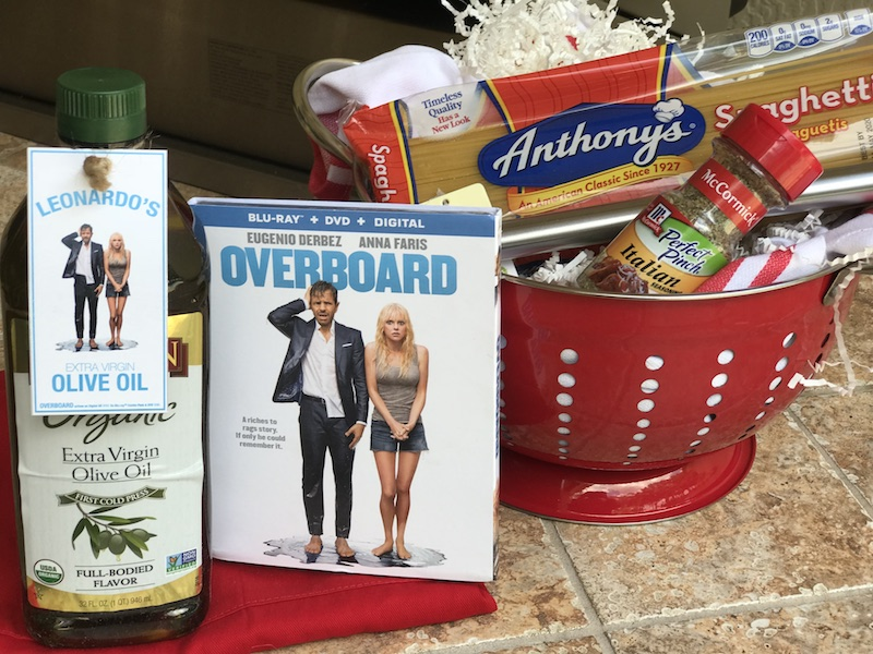 Blu-ray DVD OVERBOARD movie and spaghetti night giveaway overboard dinner