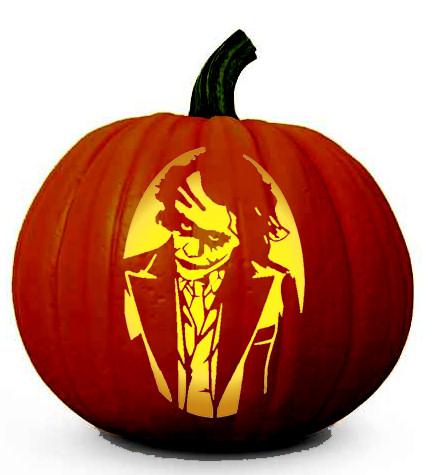 The Dark Knight Joker Pumpkin Carving Stencil Celebrating Halloween