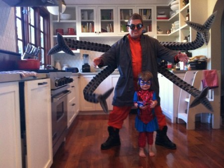 Father Daughter Spidey Octopus Halloween Costume