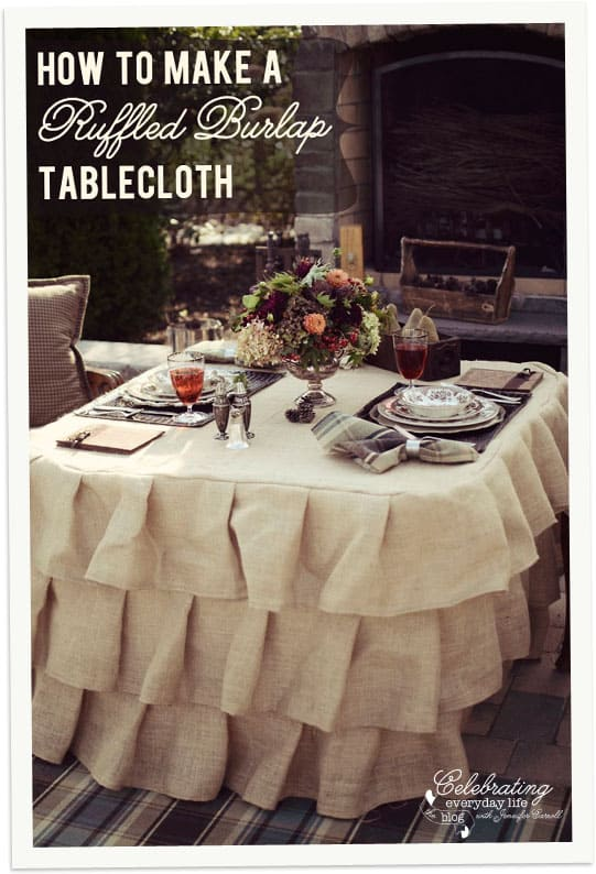 How To Make A Ruffled Burlap Tablecloth Tutorial, How To Sew A Ruffled  Burlap Tablecloth
