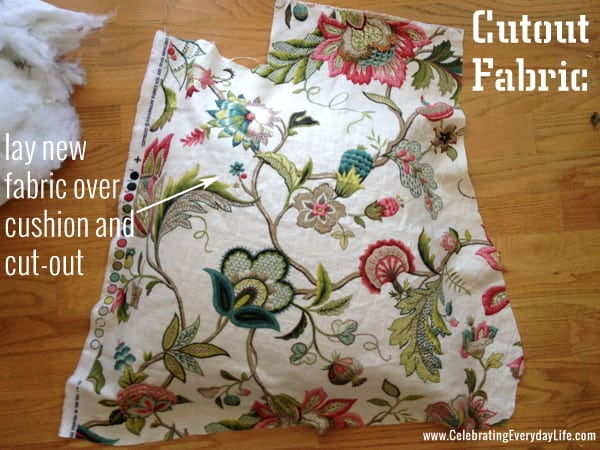 Cutout Fabric to cover dining room chair