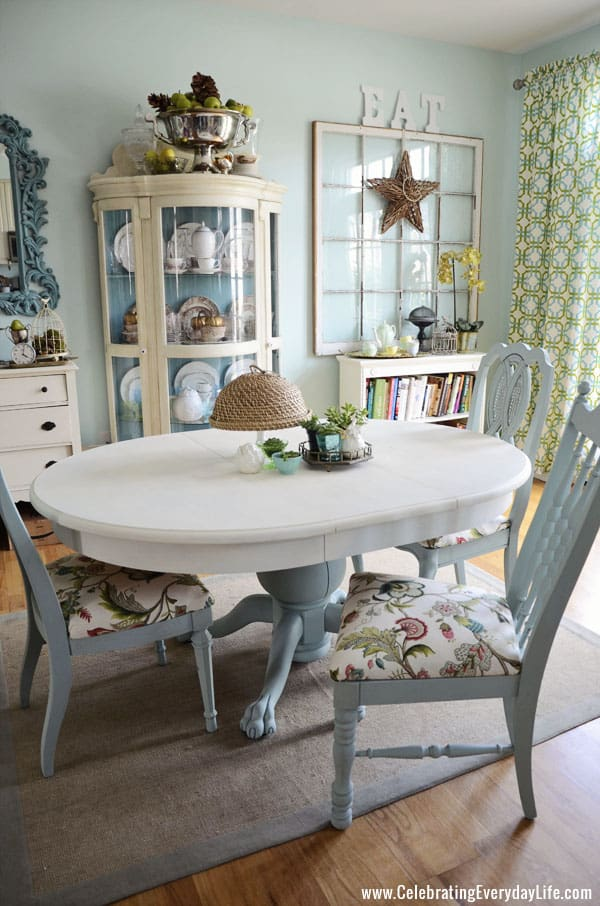 Dining Table And Chairs Makeover With Annie Sloan Chalk Paint, Old White  Annie Sloan Chalk