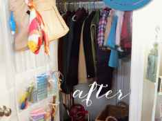 Organize the Coat Closet, Celebrating Everyday Life with Jennifer Carroll, Organize your home, Organizing Before and After
