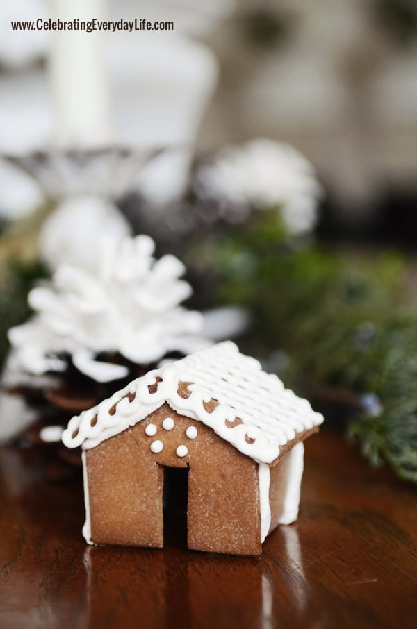 Mini Gingerbread House, Natural Greenery Centerpiece, Celebrating Everyday Life with Jennifer Carroll