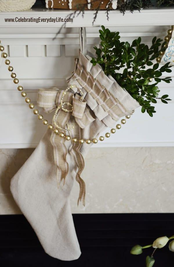 Make Your Own Dropcloth Stocking {Holiday DIY}