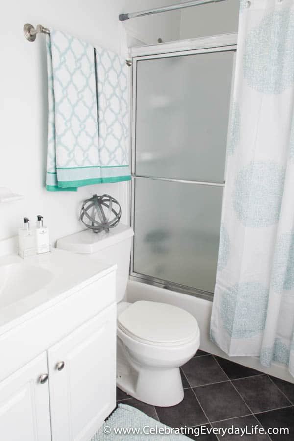 How to Stage a Bathroom (or two!) How To Stage A Bathroom on stage a garage, stage a home, stage a desk, stage a bathtub, home bathroom,