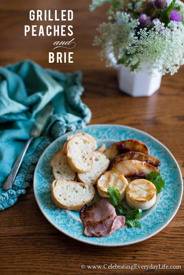 Grilled Peaches and Brie Recipe