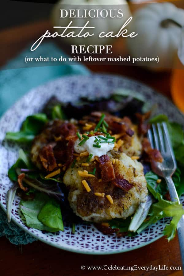Delicious Potato Cakes Recipe (or what to do with leftover mashed potatoes)