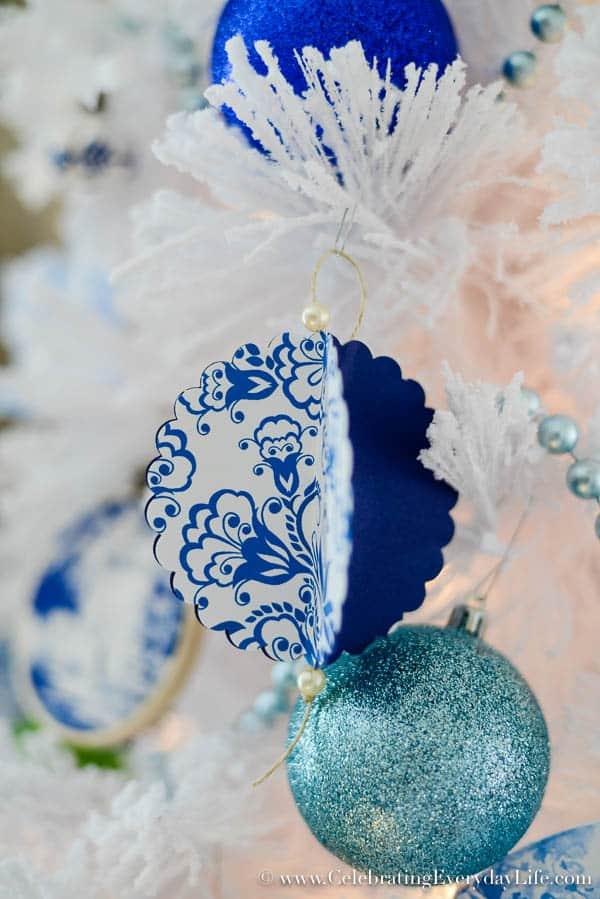blue white christmas tree flocked white christmas tree diy christmas ornaments walmart