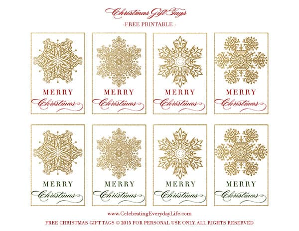 Free printable snowflake gift tags celebrating everyday life snowflake gift tags free printable gift tags free printable snowflake gift tags free negle Image collections