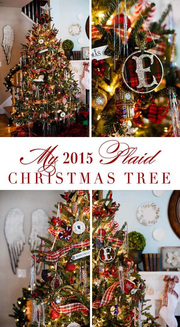 My 2015 Plaid Christmas Tree