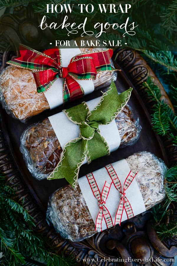 how to wrap baked goods for a bake sale christmas food gift diy christmas