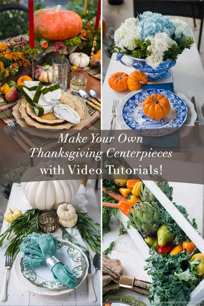 Make your own thanksgiving centerpieces with video tutorial