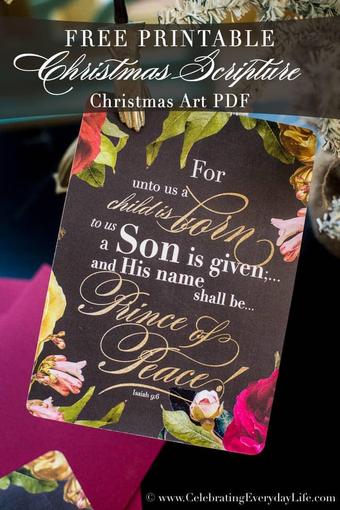 Free Christmas Scripture Printable PDF
