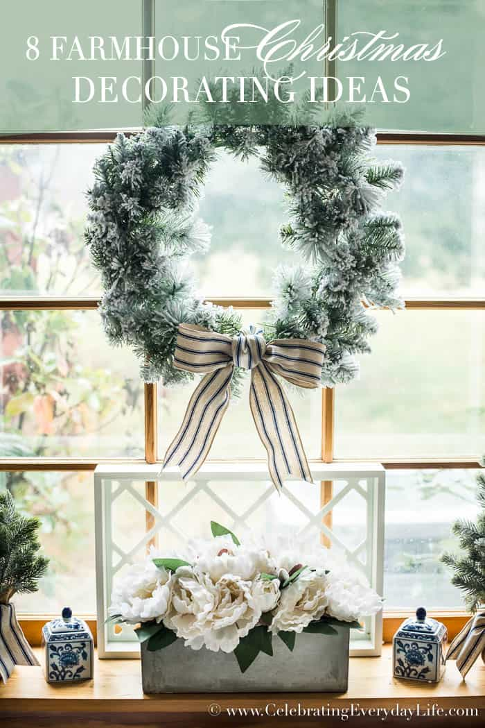 farmhouse christmas decorating ideas celebrating everyday life with jennifer carroll wwwcelebratingeverydaylife - Farmhouse Christmas Decorating Ideas