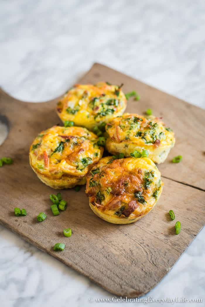 Speed Up Your Morning Routine with this Veggie Bacon and Egg Cup Recipe | Celebrating Everyday Life with Jennifer Carroll | CelebratingEverydayLife.com