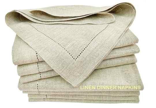 Pure Linen Hemstitch Napkins, Thanksgiving Essentials