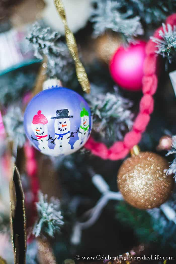 How to Make Your Shabby Chic Christmas Tree Spectacular, Mixing old and new ornaments, how to mix in kids ornaments with your Christmas decor