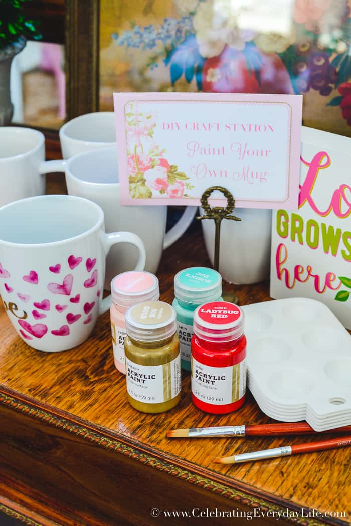 DIY Craft station for Galentine's Day Party, How to Host a Fantastic Galentine's Day Party, How to Host a Fantastic Valentine's Day party, Valentine Party Tips, Valentine Party Ideas, Tips to host the best ever Valentine's Day party!, Tips to host the best ever Galentine's Day party!, What is a Galentine's Day Party? 11 tips to make your Galentine's Day/Valentine's Day party your best party this year!