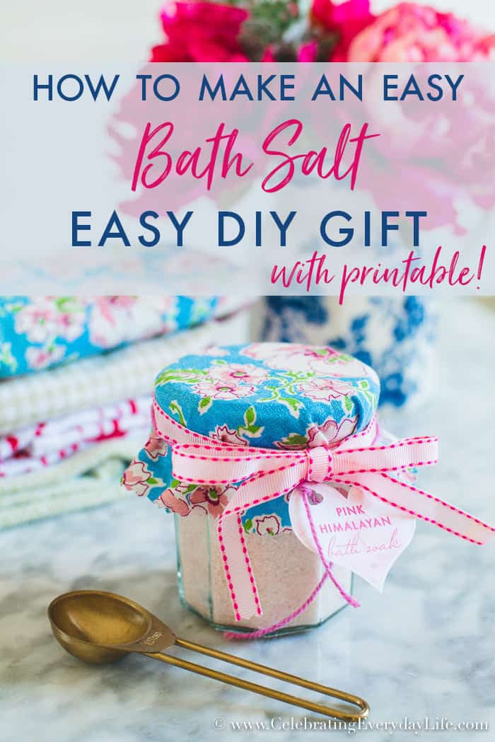 How to Make an Easy DIY Bath Salt Gift