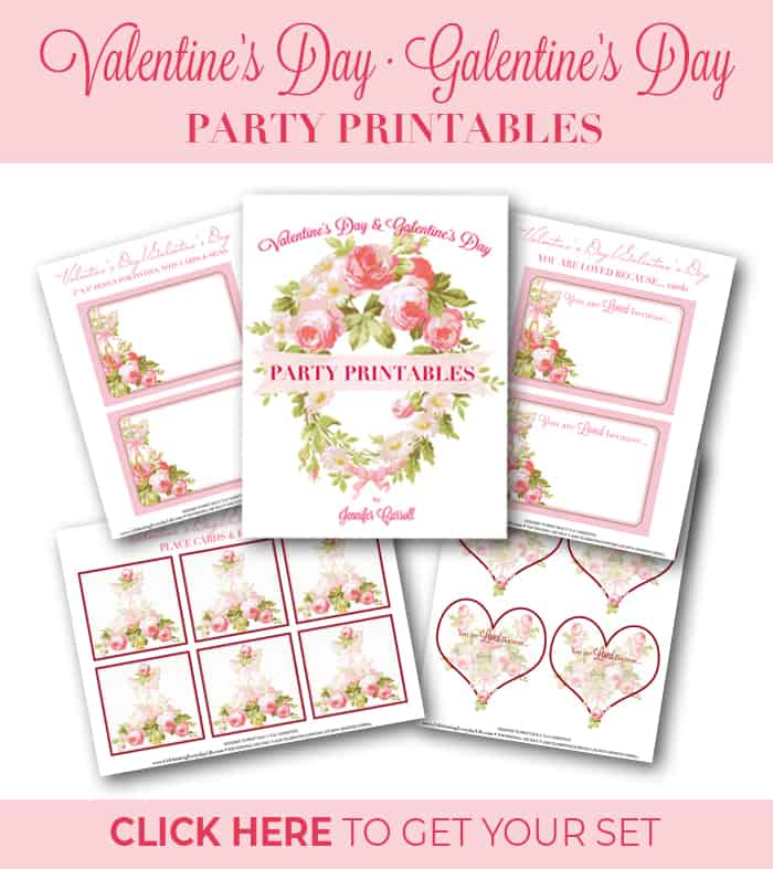 Valentines Day and Galentine's Day Party Printables Pack