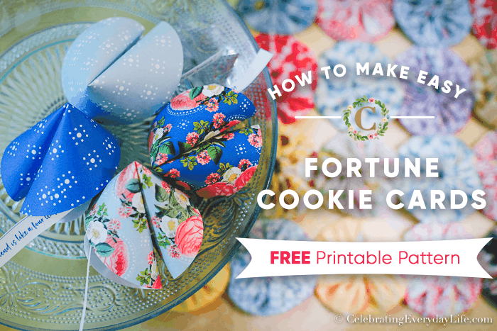 How to Make Easy Fortune Cookie Cards