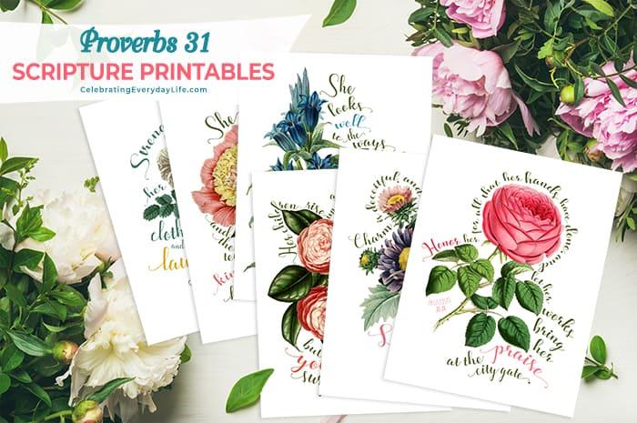 Proverbs 31 Scripture Printables