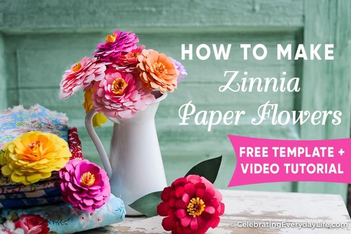 How to Make a Paper Zinnia Flower