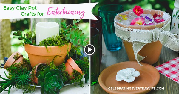 Easy Clay Pot Crafts for Entertaining