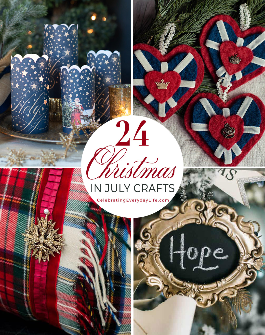 24 DIY Christmas in July Crafts