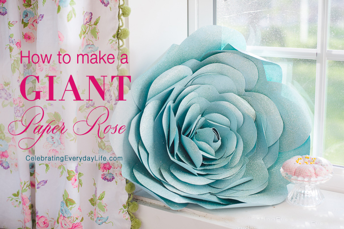 How to Make a Giant Paper Rose Flower