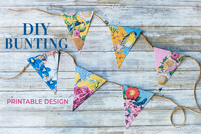 DIY Printable Party Bunting for Summer