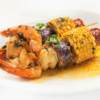 "Chef Adrianne Calvo's ""Grilled"" Cajun Shrimp Boil + Lemon Aioli"