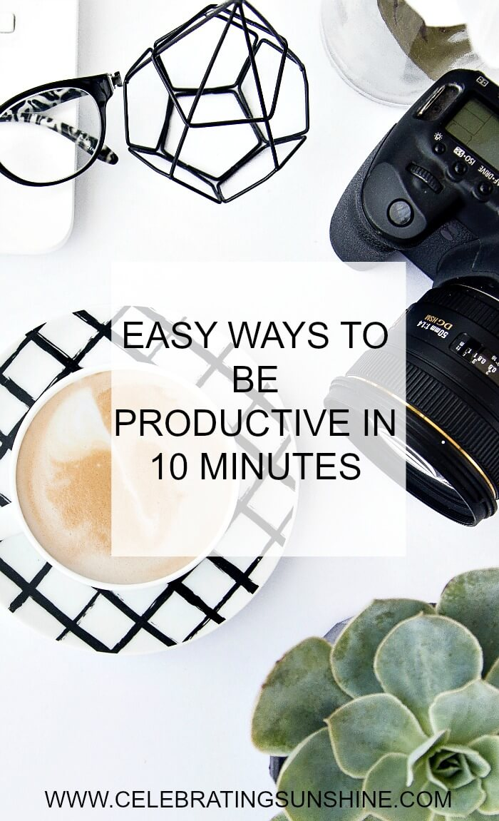 Here's a list with 24 things you can do if you want to be productive in 10 minutes or less.