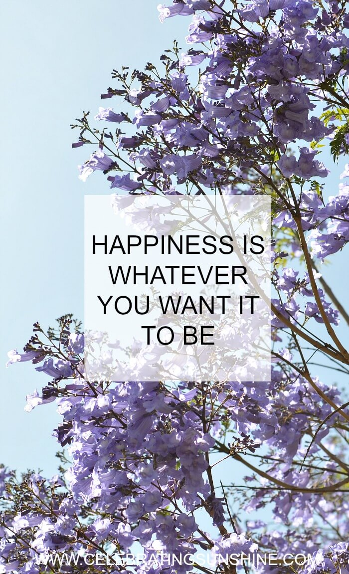 Happiness is the wisdom of enjoying whatever you have, whatever you do, and whoever you are.