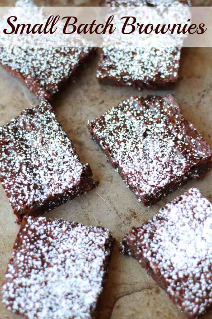 Small batch of brownies