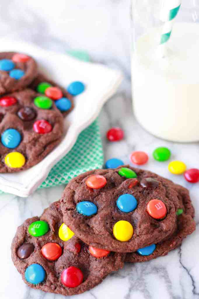choc m&m cookies