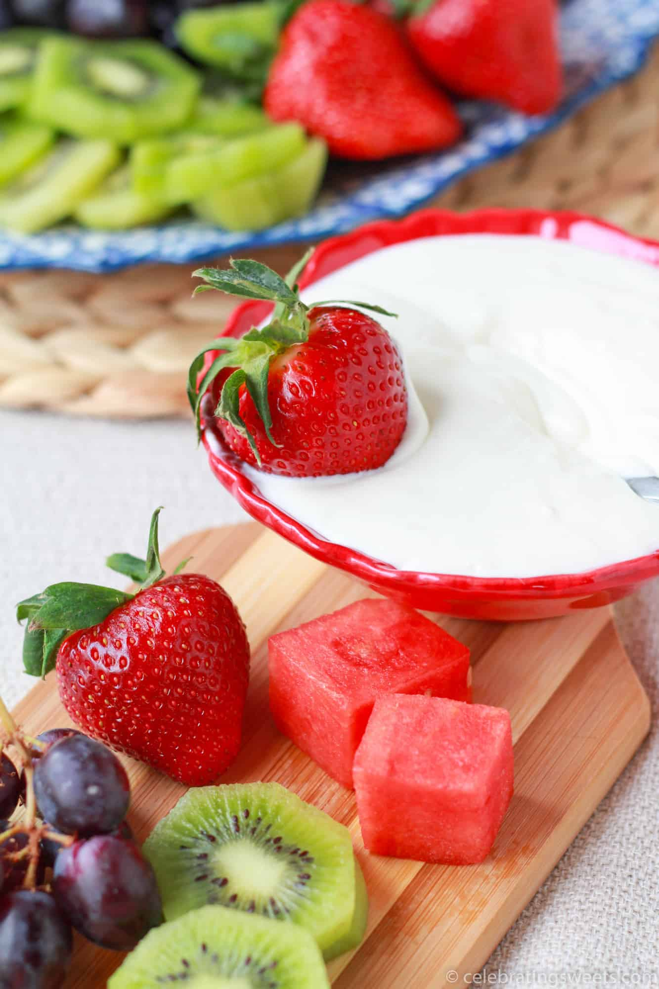 cream cheese fruit dip healthy fruits