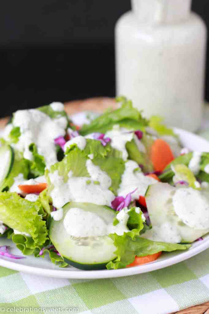 Creamy Cucumber Herb Dressing - Celebrating Sweets